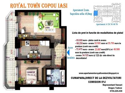 Apartamente noi Copou Iasi - 2 camere total decomandat