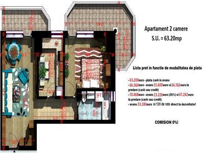 Apartament 2 camere 63mp - Copou