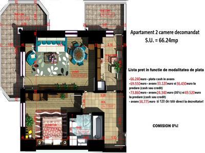 Apartament 2 camere 66mp - Copou
