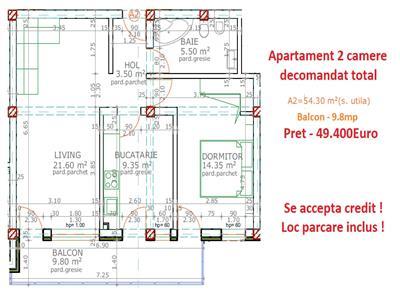 Apartament 2 camere decomandat - Popas Pacurari - Mutare imediata