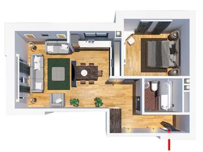 Apartament 2 camere Tatarasi,  40750euro, tip G