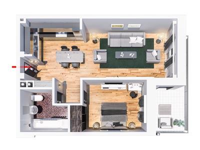 Apartament 2 camere Tatarasi,  49 750 euro, tip D