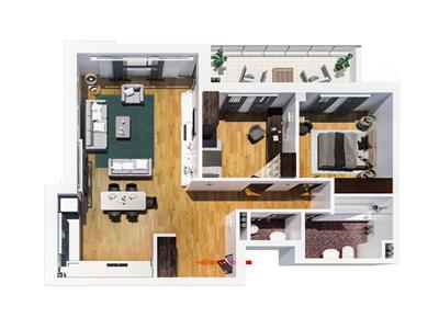 Apartament 3 camere Tatarasi, 73 500 euro, tip B