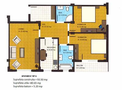 Apartament 3 camere 70000euro