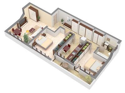 Apartament 3 camere 77mp decomandat CUG