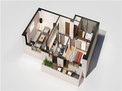 Apartament 2 camere, 57 mp, bloc nou, Tatarasi-Oancea