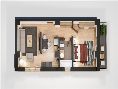 Apartament 2 camere, bloc nou, Tatarasi