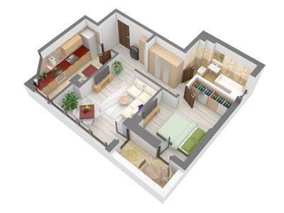 Apartament 2 camere, Tatarasi, bloc nou