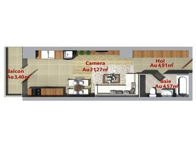 Apartament ultracentral 1 camera, Palas, bloc nou, Podu Ros
