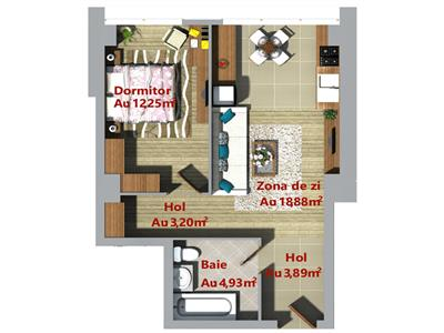 Apartament ultracentral 2 camere, open space, Palas, Podu Ros