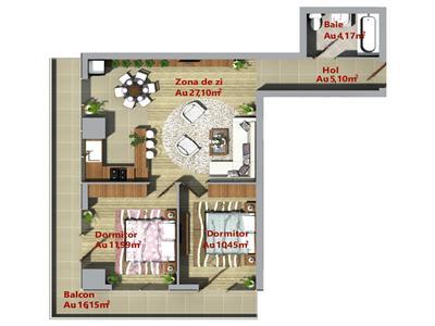 Apartament ultracentral 3 camere, semidecomandat, Palas, Podu Ros