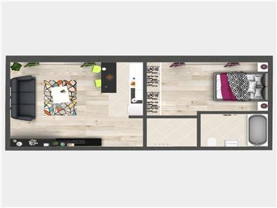 Promo: Apartament cu 2 camere, Bucium, 42.75 mp utili, 42.750 euro