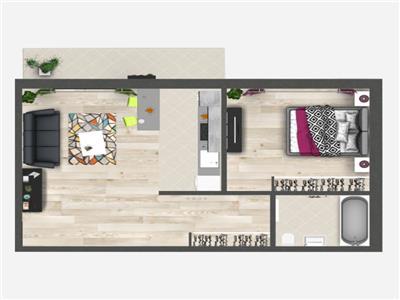 Promo: Apartament cu 2 camere, Bucium, 55.55 mp utili, 53.000 euro