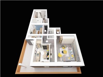 Apartament - 3 camere - 77mp