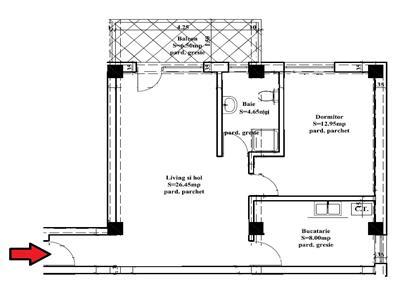 Apartament 2 cam 59mp - Nicolina - zona de vile