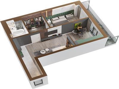 Apartament 2 camere, Copou, 55.6mp utili+8.9mp balcon