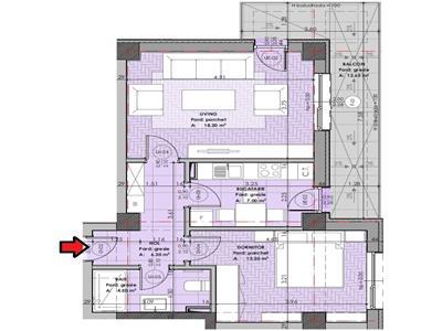 Apartament 2 camere 62mp Copou - incalzire pardoseala