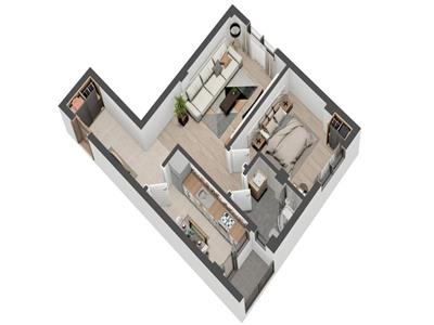 Apartament 2 camere decomandat - Valea Lupului - predare luna august