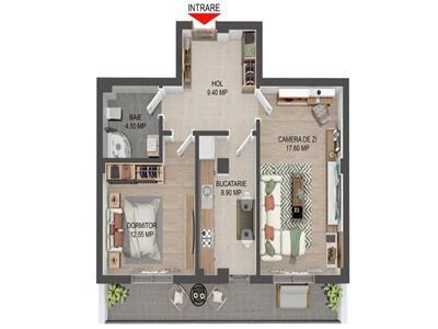 Apartament 2 camere - decomandat - Valea Lupului - Predare august!