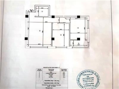 Ap 3 camere,65mp,loc parcare, Cug 900mTudor Neculai
