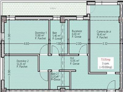 OFERTA! Apartament 3 camere decomandat,Copou, 83mp