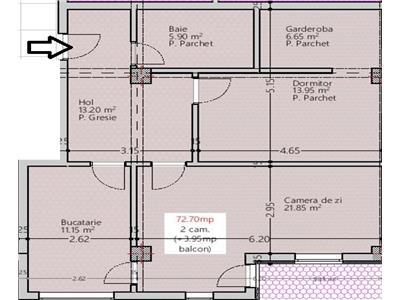 OFERTA! Apartament 2 camere decomandat->77mp->76.650E
