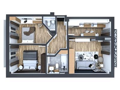 Apartament 3 camere, decomandat, Pacurari
