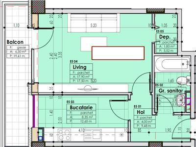 Apartament 1 camera, decomandat, 42 mp, zona centrala