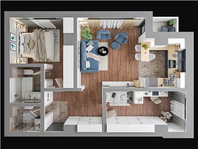 Apartament 3 camere, Tatarasi, 65 mp, 80.600 euro