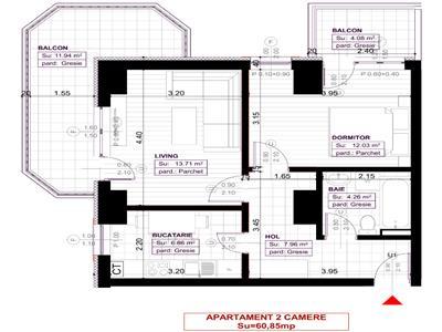Apartament 2 camere decomandat Copou 82150 euro