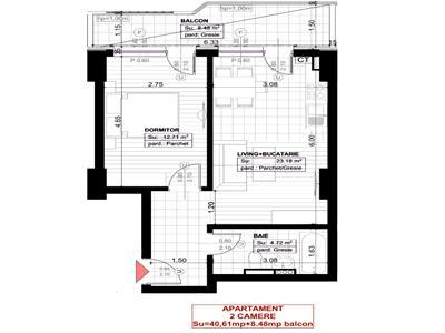 Apartament 2 camere 49.09 Copou 61400 euro