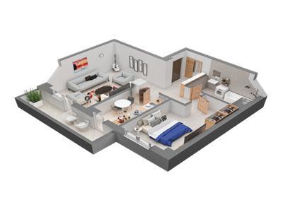 Apartament 2 camere decomandat, 10 minute de Piata Unirii